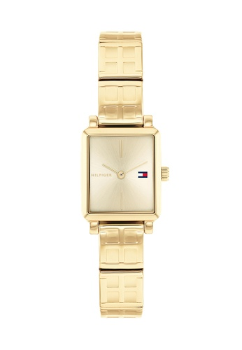 Tommy Hilfiger Watches gold Women's Ionic Thin Gold Plated 2 Steel Bracelet and Gold Dial Quartz Watch DD836AC374416DGS_1