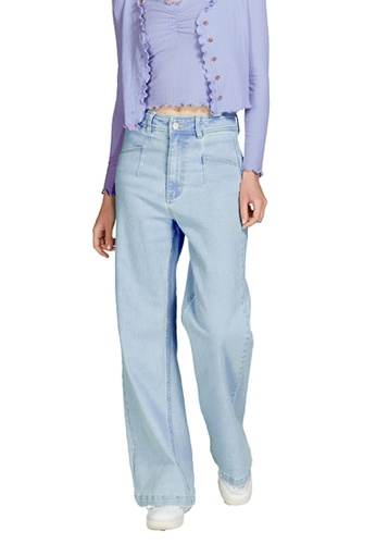 6IXTY8IGHT blue Melo, High-Rise Wide-Leg Jeans PN08716 C2079AA45A8B1AGS_1