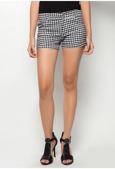 Gingham Print High Waisted Shorts