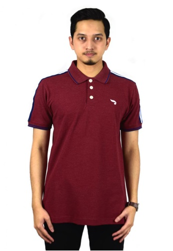 Antioni red ANTIONI Men Polo Tee-S/S (MD. MAROON) 90A79AAB8D6BCEGS_1