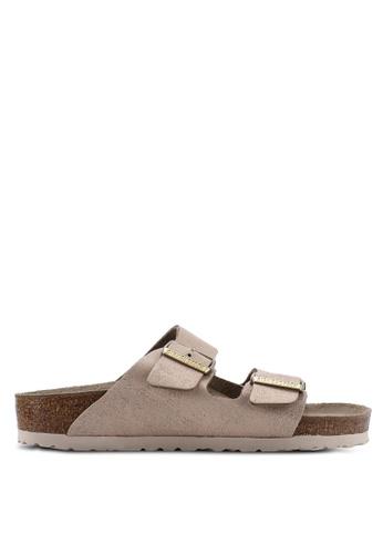 5a8c9bd54bc7f Shop Birkenstock Arizona Washed Metallic Sandals Online on ZALORA  Philippines