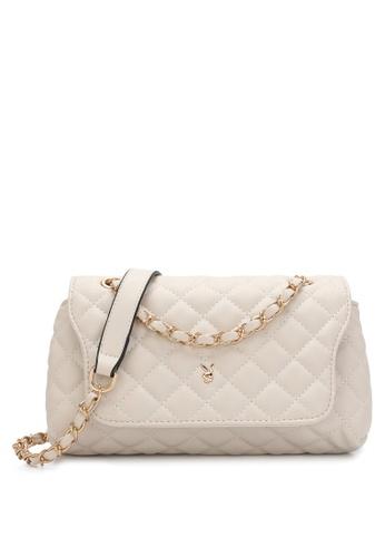 PLAYBOY BUNNY beige Women's Sling Bag / Shoulder Bag / Crossbody Bag 2970CAC3307DADGS_1