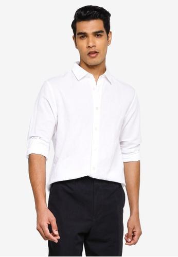 Banana Republic white Long Sleeve Linen Shirt 3D6DAAA1A9C554GS_1
