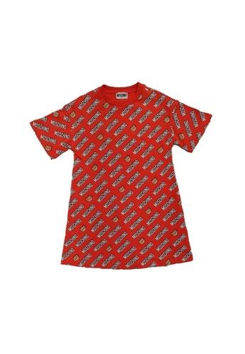 MOSCHINO BABY KID TEEN red MOSCHINO GIRLS DRESS 72987KA98DDEA7GS_1