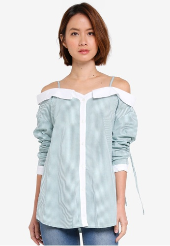 OVS multi Cold Shoulder Blouse 7058AAA2CD9C6CGS_1