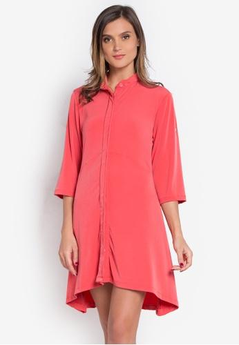 Verve Street orange Aldora Dress VE915AA0K5SCPH_1