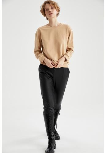 DeFacto beige Woman Knitted Sweat Shirt 29C1BAA3C7C7C5GS_1