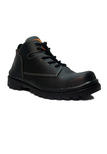 Cut Engineer black Cut Engineer Safety Iron Classic Low Boots Leather Black CU226SH11IEEID_1
