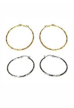 Silver and Gold Hoop Earrings
