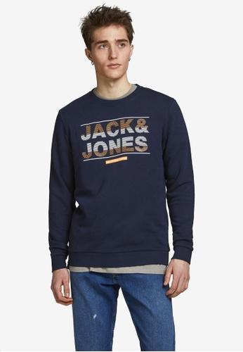 Jack & Jones navy Mount Logo Sweatshirt 565E5AA6DA92BFGS_1