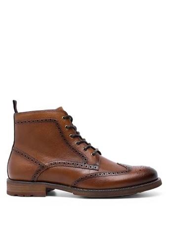 Twenty Eight Shoes 吉卜賽紳士真皮復古短靴816301 B3400SH5EAEE84GS_1