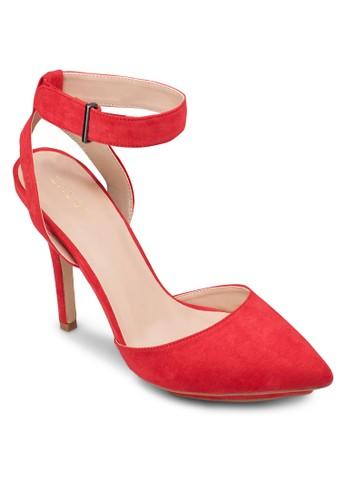 厚底繞踝尖頭高跟鞋, 女zalora 包包 ptt鞋, 鞋