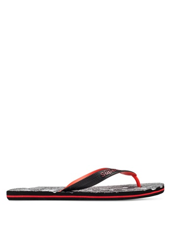 Superdry black Scuba Marl Flip Flops SU137SH26JNHMY_1