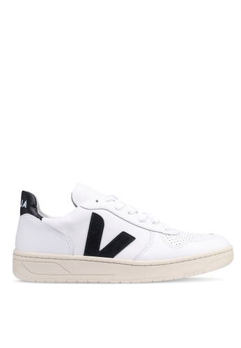 Veja white V-10 Leather Sneakers C07EESHA983921GS_1