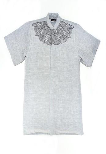 Versail grey Versail Baju Muslim Koko Pria Bordir Kipas Grey PO8 5568DAA56DE4FBGS_1
