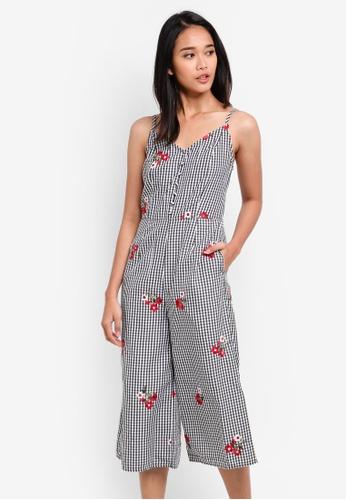Something Borrowed black Button Down Cami Culotte Jumpsuit E7E41AA2320E73GS_1