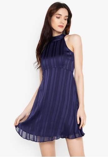 Susto The Label blue Eliza Halter Dress 6671DAA07C5890GS_1