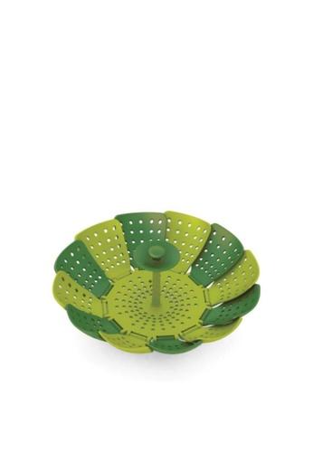 Joseph Joseph Joseph Joseph Lotus Steamer Dark Green / Green (Open : 26x26x12.5cm) B1519HL9332A51GS_1