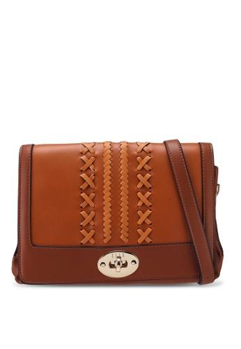 ELLE brown Gabriel Crossbody Bag BB39FAC8E71BFBGS_1