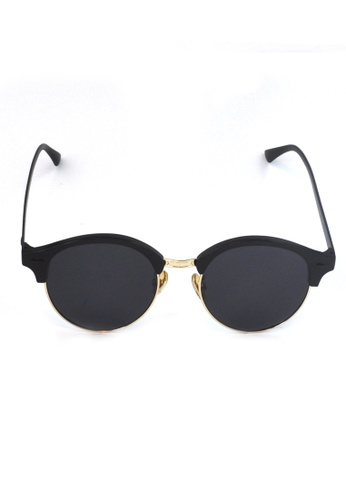 2i's to eyes black Sunglasses Polarized│Vintage Oval Black Frame│UV400 Protection│2is PerryD 7A65BGL839AF34GS_1