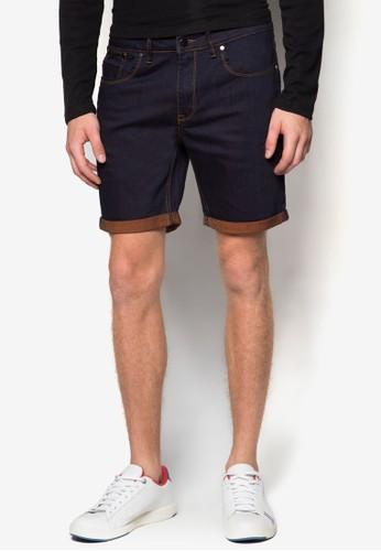 撞色反折丹寧短褲, 服zalora 衣服評價飾, 短褲