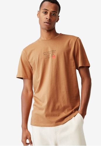 Cotton On brown Tbar Text T-Shirt 57AB2AA2C0983DGS_1