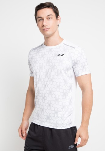 Skechers white and multi Louis Printed Tee BA13CAA7DA9603GS_1