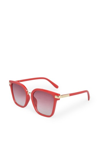 9 to 12 red Wayfarer Sunglasses Kacamata Wanita [2179] 5C756GL110724AGS_1