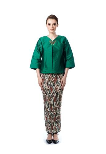 LARA NOUR green Fancy Blouse Sets FD874AA83A1DE2GS_1