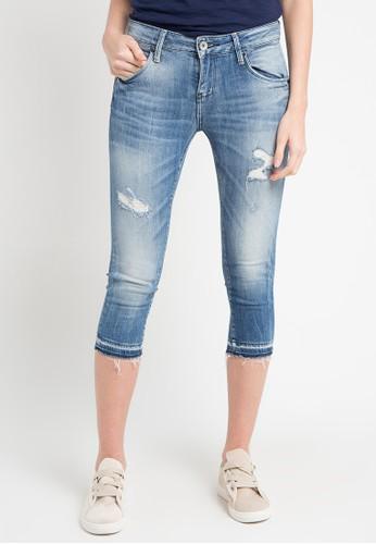 Logo Jeans blue 7/8 Pants B01 Series E0D08AA18AE8E4GS_1