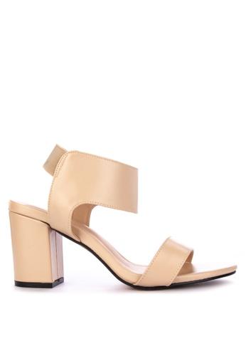 0c04d95d1 Shop Rock Rose Elastic Block Heel Sandals Online on ZALORA Philippines