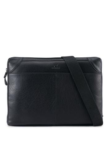 RAV Design black Leather Envolope Clutch RA113AC0SJA4MY_1