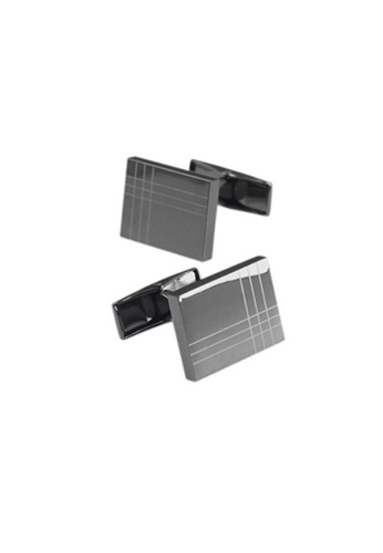 Kings Collection black Rectangle Laser Men Cufflinks 01A31AC365B36FGS_1