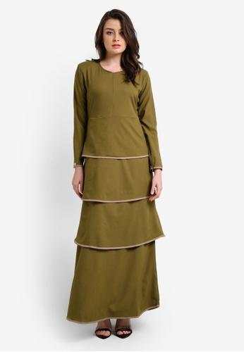 JubahSouq green Valeria Dress 2.0 JU399AA0RTR6MY_1