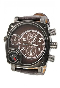 Oulm Watch With Large Dial and Compass