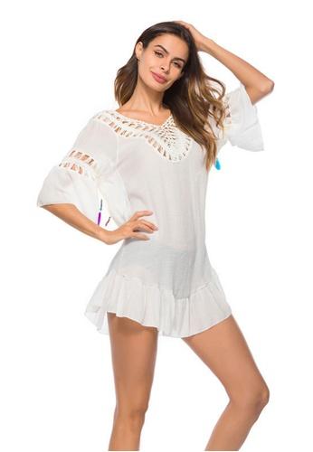 LYCKA white LTH4075-European Style Beach Casual Outer Dress-White 22E89US2D895E5GS_1