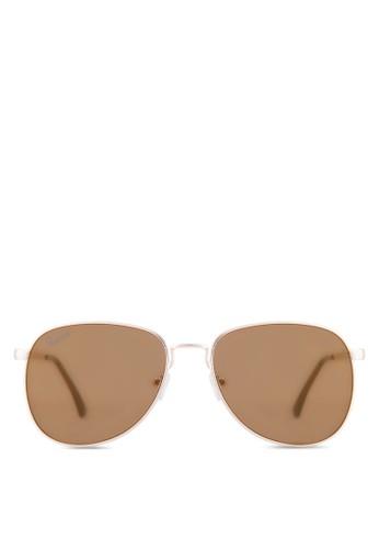 Shawn 經典飛行員太陽眼鏡, 飾品配件, 飛行員esprit hk store框