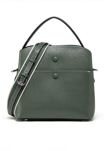 Twenty Eight Shoes green VANSA Leather Portable Crossbody Bucket Bag VBW-Cb202015 24383AC9E7A99DGS_1