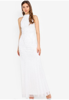 d6a51aa593bc Frock and Frill white White Embellished Dress 434CCAA50778E5GS_1