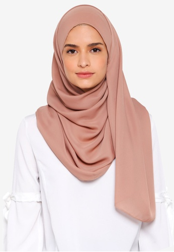 Lubna brown Basic Shawl BCF5CAAFBB9B45GS_1