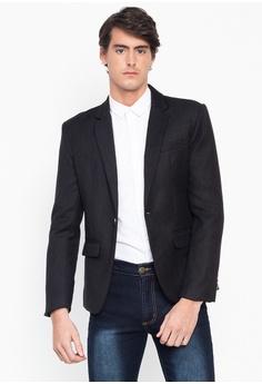 6289a0c09e69 Well Suited black Classic Trim Fit Blazer 4E00CAA79FB825GS_1