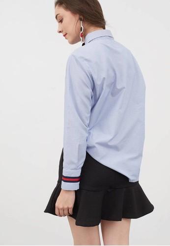 Jual Berrybenka Label Moriya Shirt Blue Original