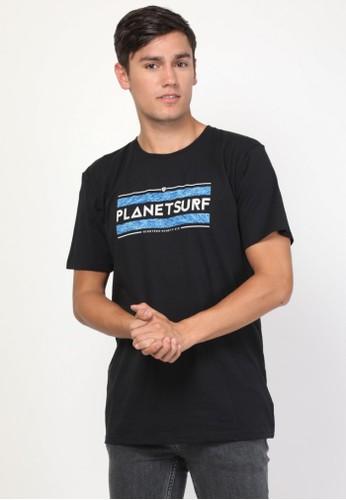 Planet Surf Clothing black Planet Surf Clothing Kaos Pria Hitam Goal Tee 201B D29B2AA74A4CB1GS_1