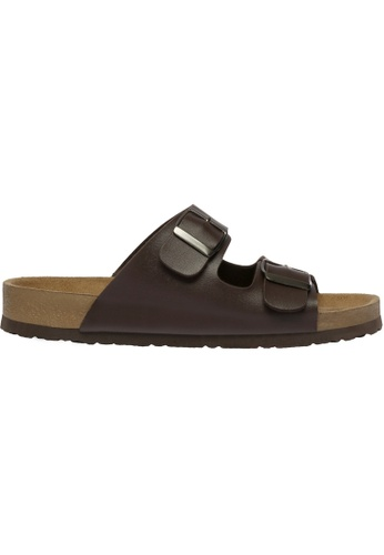 paperplanes brown SNRD-216 Casual Summer 2-Belts Slipper Sandals Shoes US Women Size PA355SH85QCOSG_1