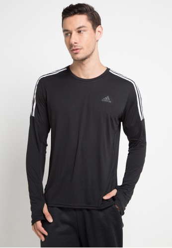 adidas white adidas running 3-stripes tee 65A79AA71F97AAGS_1