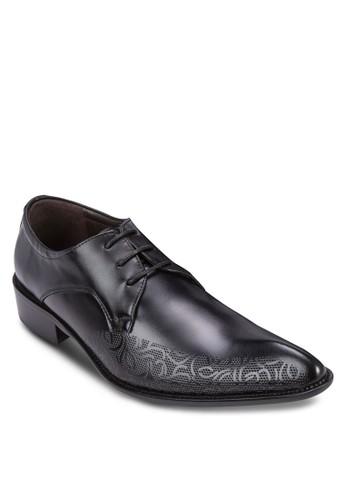 esprit 台中雕花繫帶尖頭皮鞋, 鞋, 鞋
