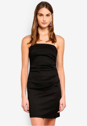 River Island black Dunn Diamante Mini Dress 76F62AA11DA53CGS_1