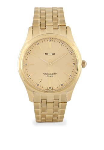 Alba gold ALBA Jam Tangan Pria - Gold - Stainless Steel - ARSY10X1 AL383AC0VB37ID_1