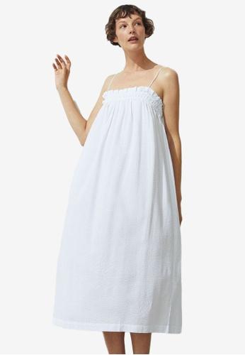H&M white Sleeveless Dress 8FBEFAA86CA7A2GS_1