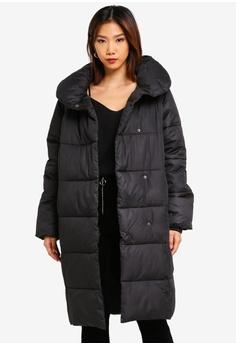 fb638192ba733 NA-KD black Padded Shawl Collar Jacket BA63BAA7749F66GS_1